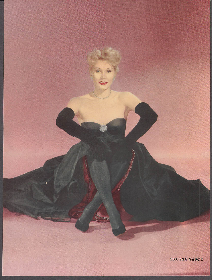 Actress Zsa Zsa Gabor 36-22-36 pin-up by Engstead 1953