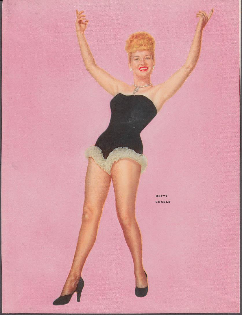 Actress Betty Grable pin-up 1953