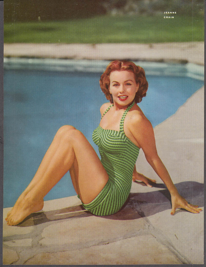 Actress Dancer Jean Crain 36 1/2-26-37 pin-up 1953 by 20th Century-Fox