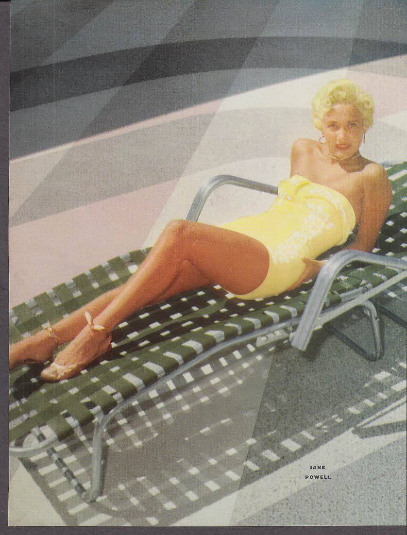 Actress Jane Powell 34-25-35 pin-up 1953 by Cronenweth