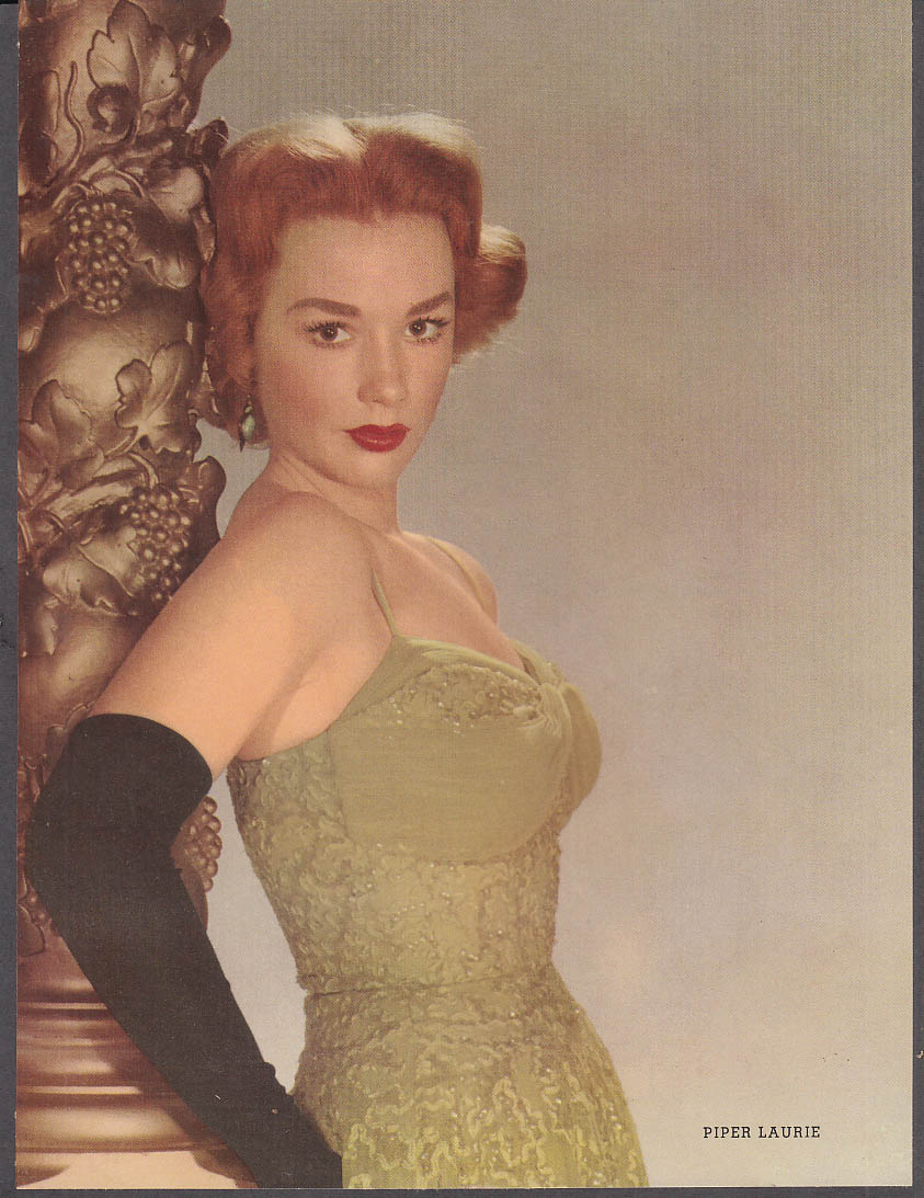 Actress Piper Laurie 36-25-36 pin-up 1953 by Fink & Smith
