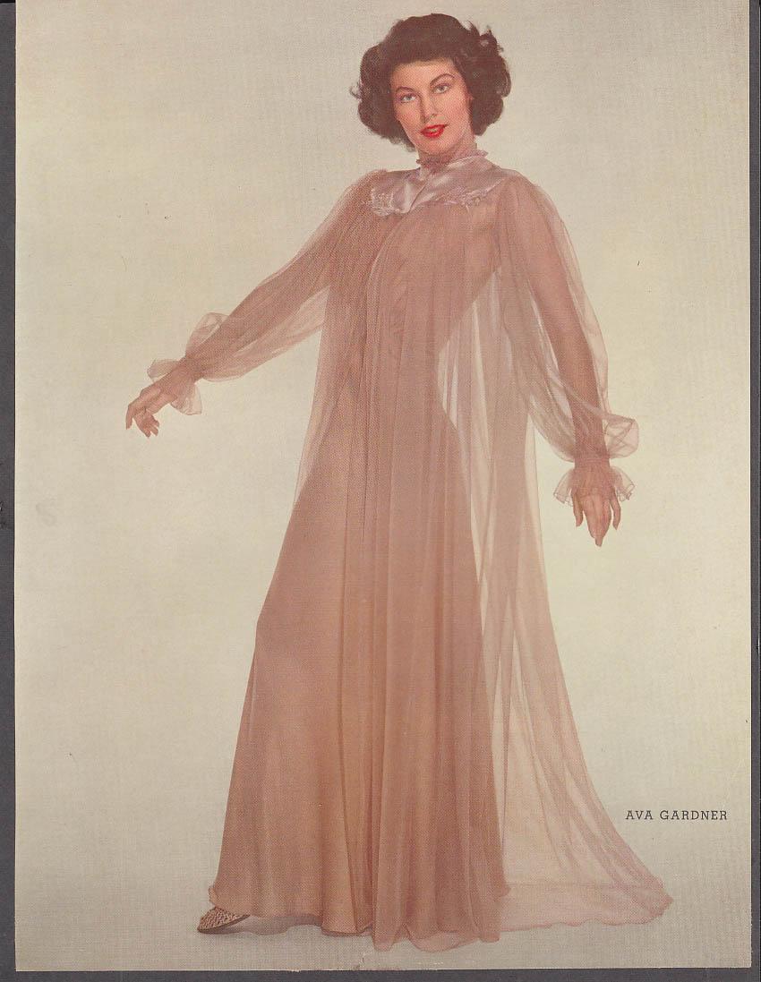 Actress Ava Gardner 37-22-37 pin-up 1953 by Apger