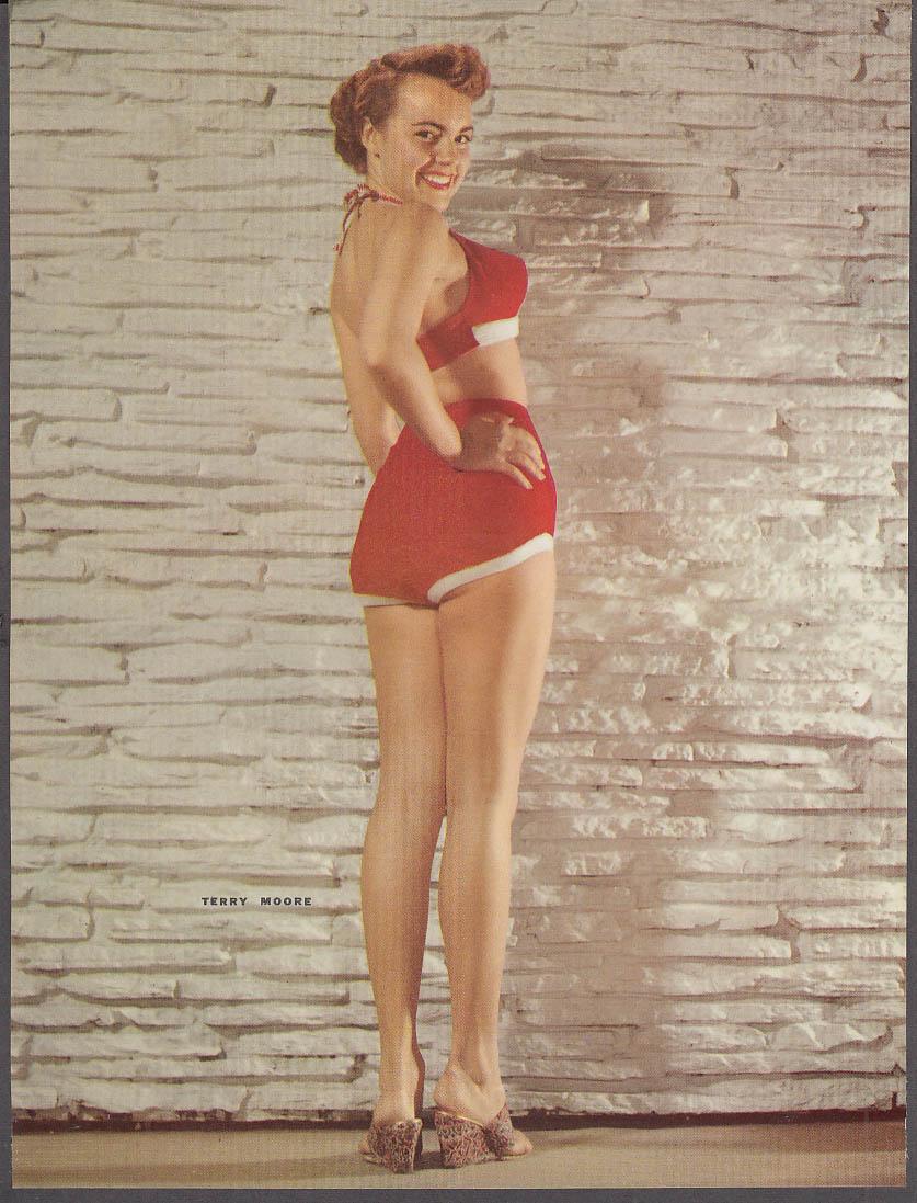 Actress Terry Moore 34-24-34 pin-up 1953