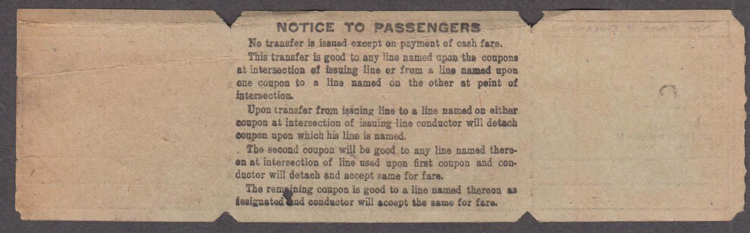 New York Railways 4th & Madison Avenue Line North railroad ticket 1914