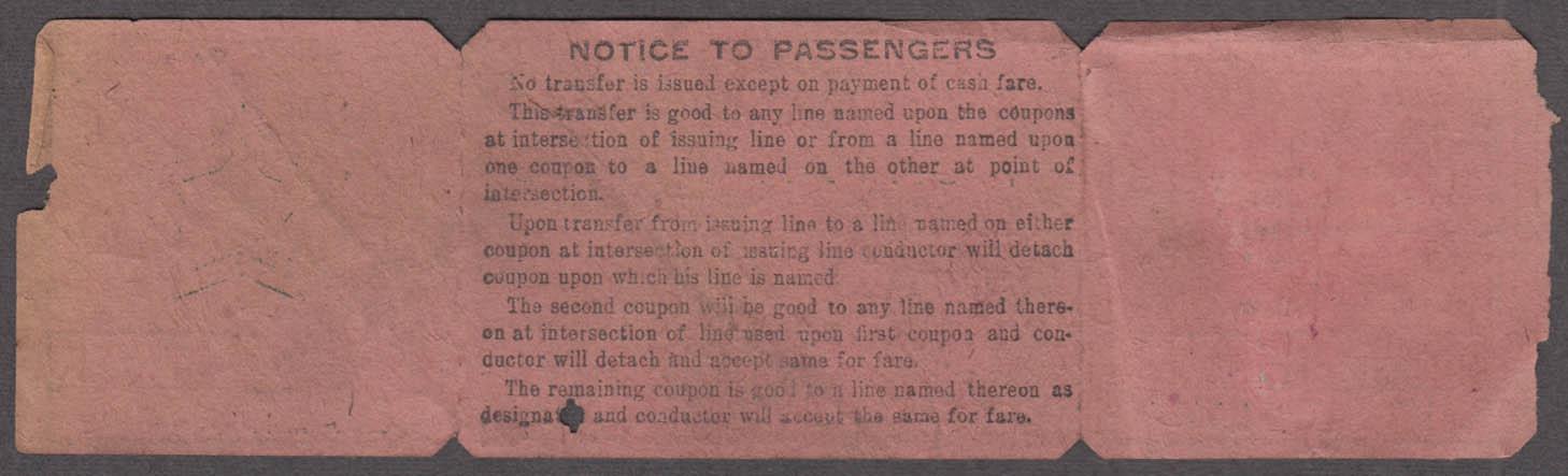New York Railways Eighth Avenue Line South railroad ticket 1915