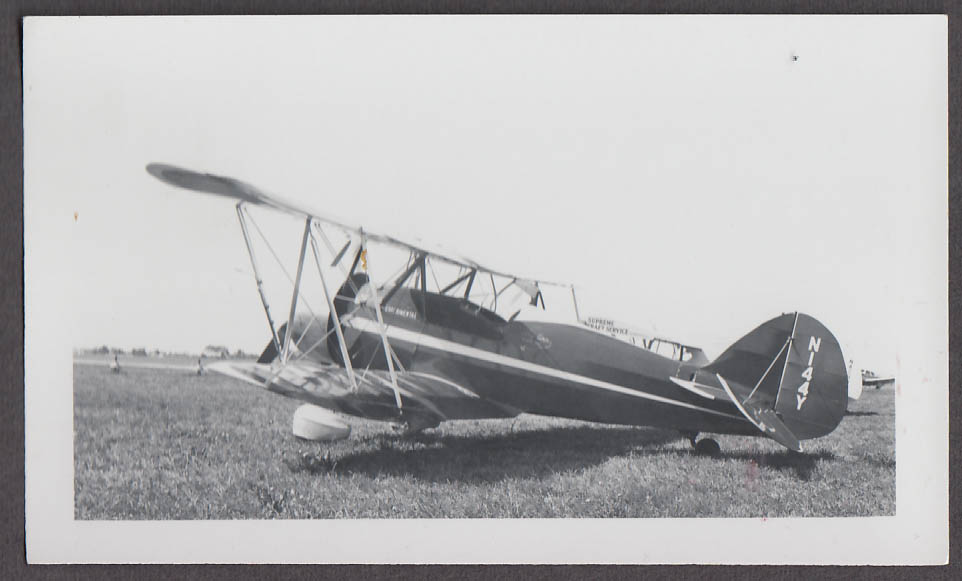1930 Waco Model RNF photo N144Y Experimental airplane photo 3/4 rear view