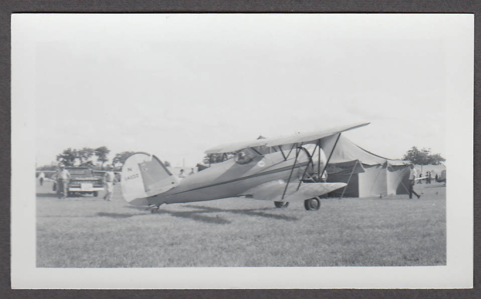 1935 Waco YMF N14132 airplane photo 3/4 rear view