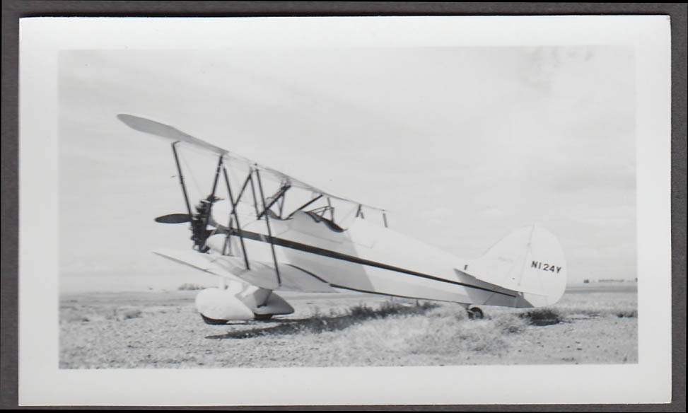 1930 Waco RNF airplane photo N124Y