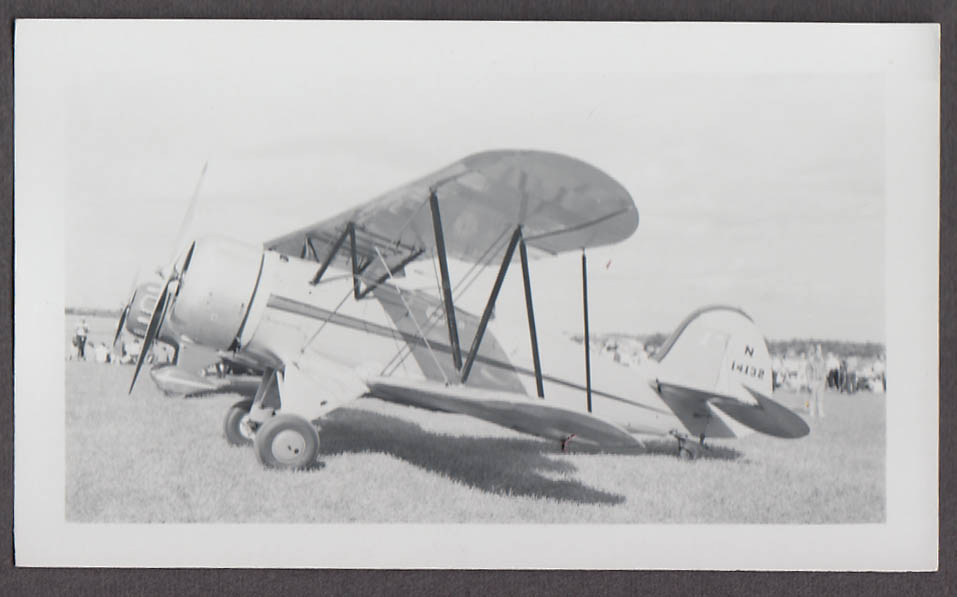 1935 Waco YMF N14132 airplane photo 3/4 front view