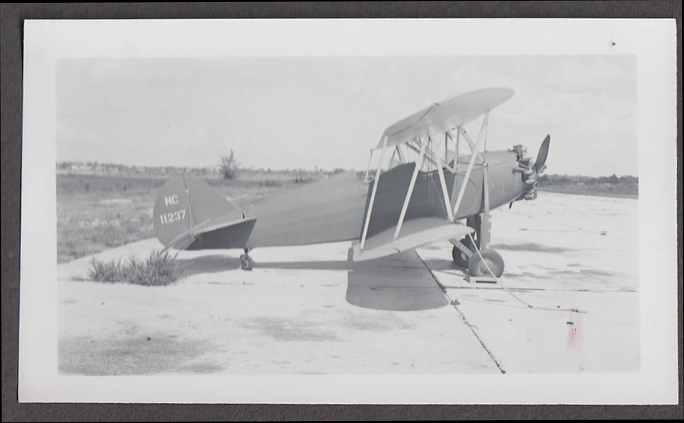 1930s Waco RNF airplane photo NC 11237
