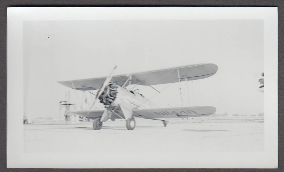 1931 Waco QCF airplane photo N11440 front view pointed left