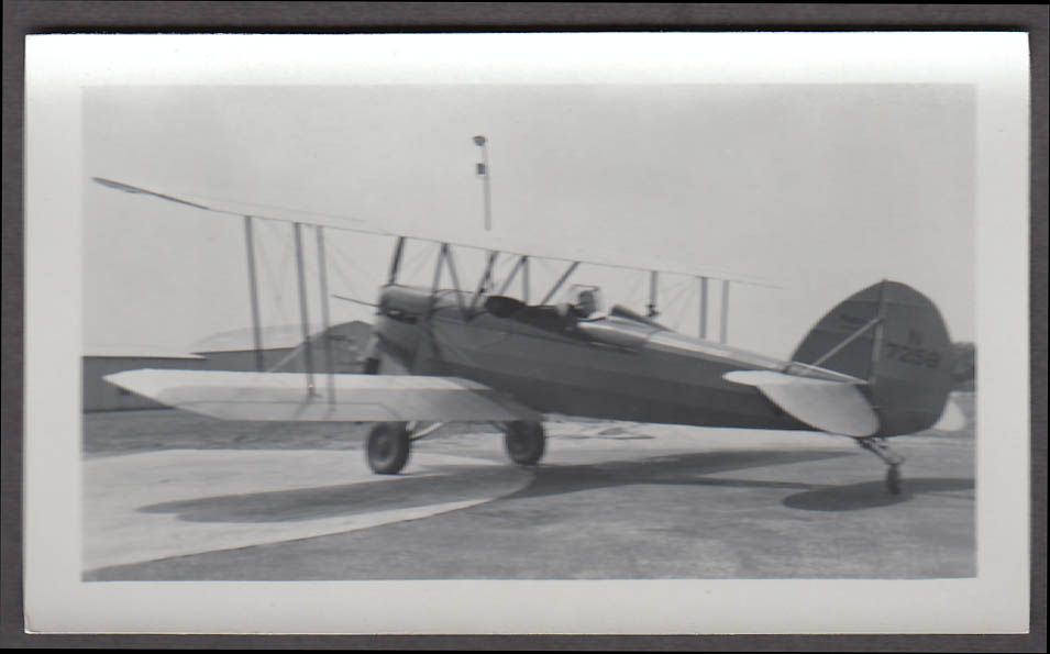 1930s Waco GXE airplane photo N7258
