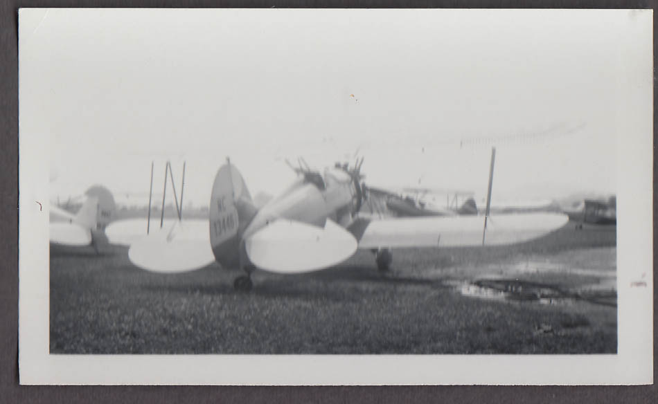 1933 Waco UBF airplane photo N13446 of Howard Dutton rear view