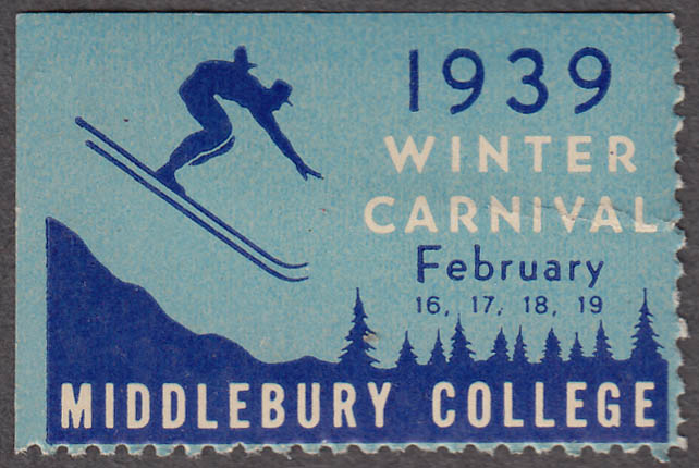 Middlebury College Winter Carnival cinderella stamp 2 1939