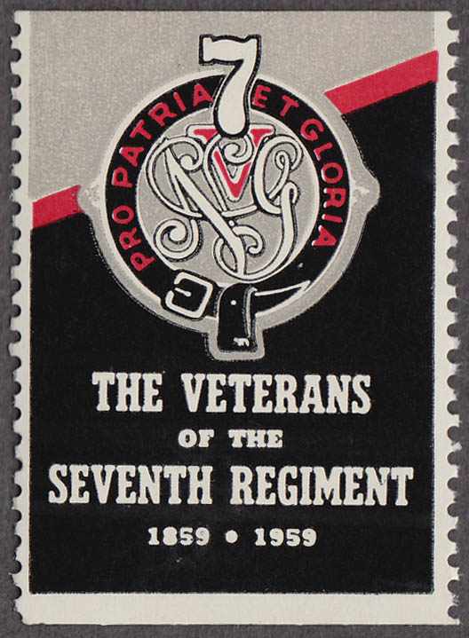 The Veterans of the Seventh Regiment 1859-1959 cinderella stamp