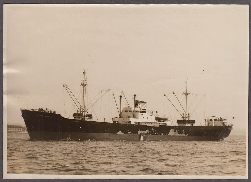 August Bolten Line passenger freighter M S Beate Bolten photograph 1950s