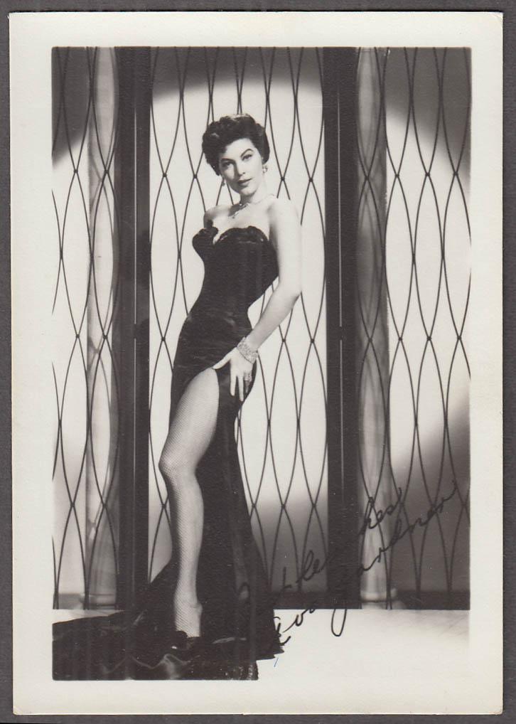 Ava Gardner fan club photo 1950s facsimile autograph