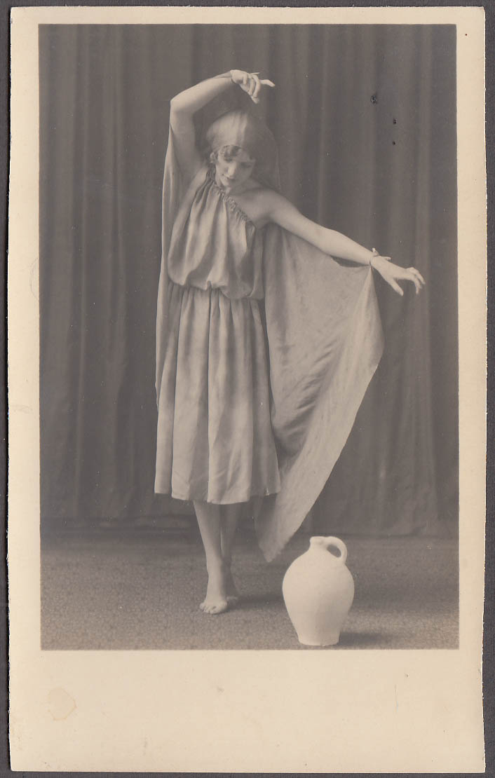 Modern dancer performs for a jug vernacular photo 1940s