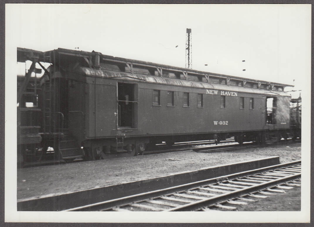 New York New Haven Hartford Rr Wire Train Crew Car W 932 Photo