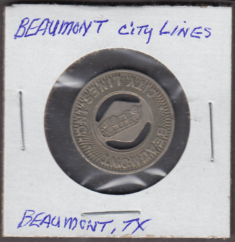 Beaumont City Lines Beaumont TX transit token