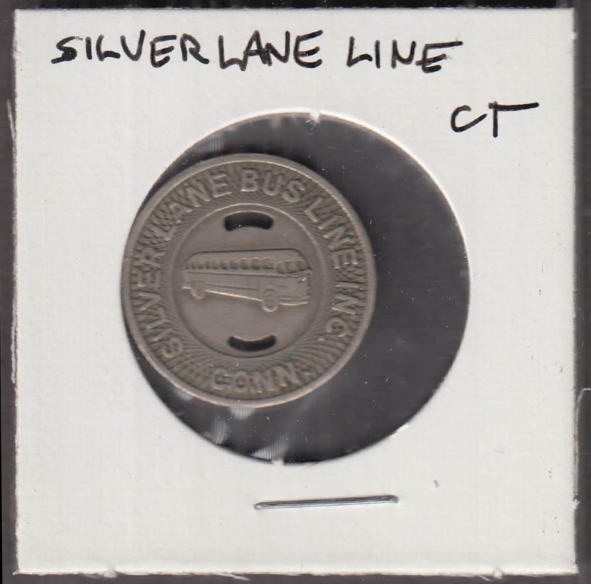 Silver Lane Bus Line CT transit token Manchester-East Hartford-Hartford