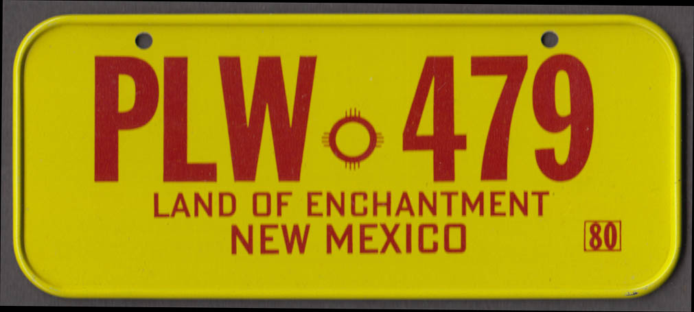 1980 Post Honeycomb Cereal license plate New Mexico Land of Enchantment