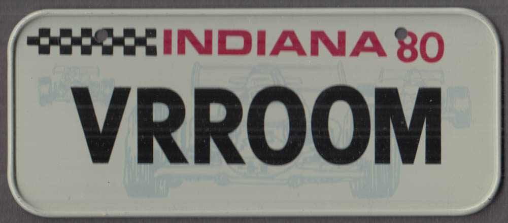 1980 Post Honeycomb Cereal license plate Indiana - VROOM