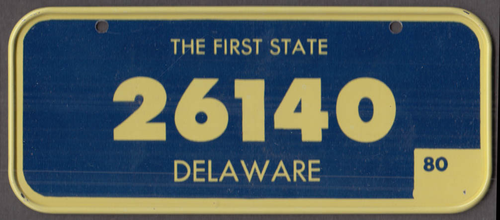 1980 Post Honeycomb Cereal license plate Delaware The First State 26140