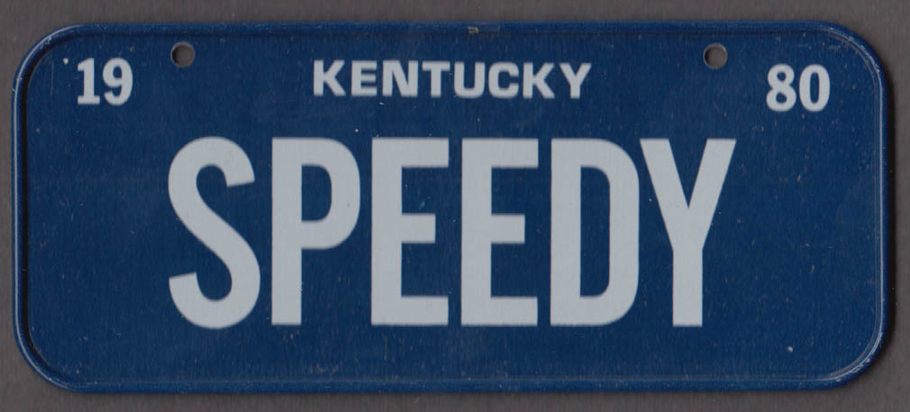 1980 Post Honeycomb Cereal license plate Kentucky - SPEEDY