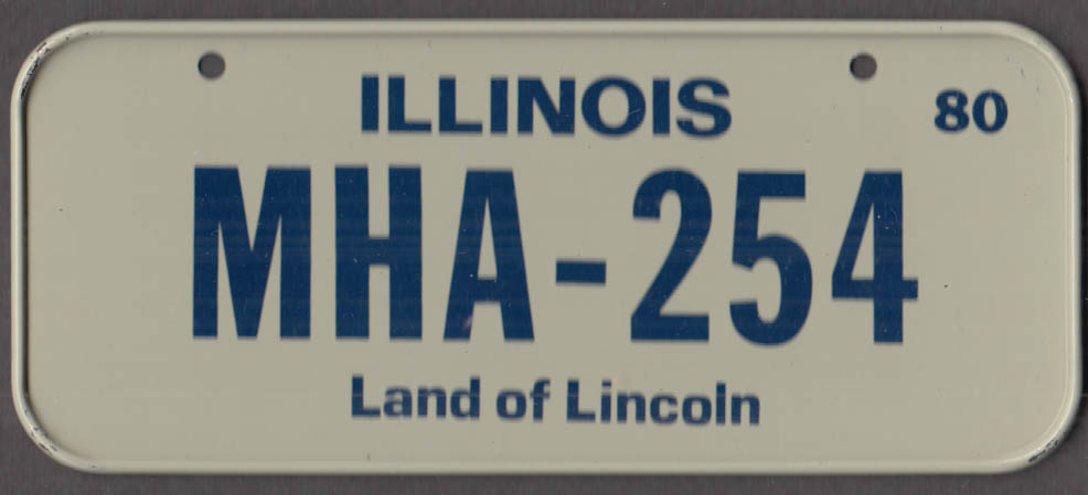 1980 Post Honeycomb Cereal license plate Illinois Land of Lincoln - MHA-254