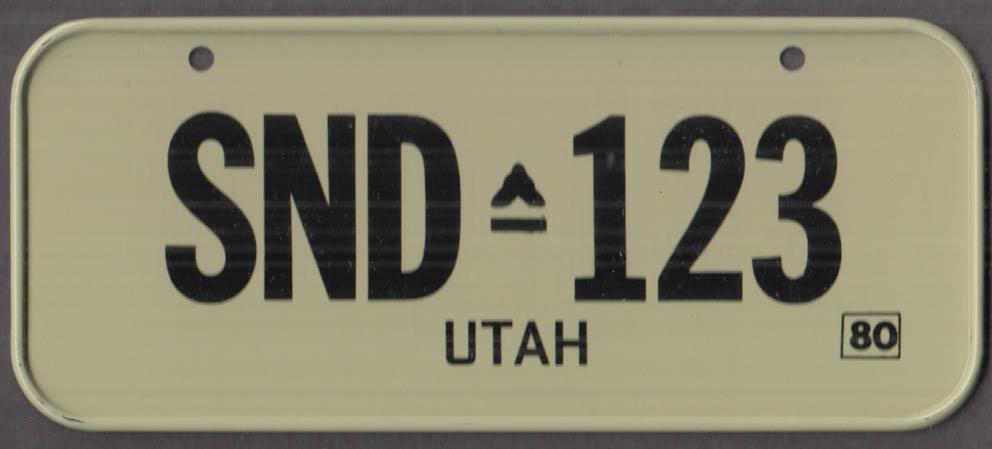 1980 Post Honeycomb Cereal license plate Utah - SND-123