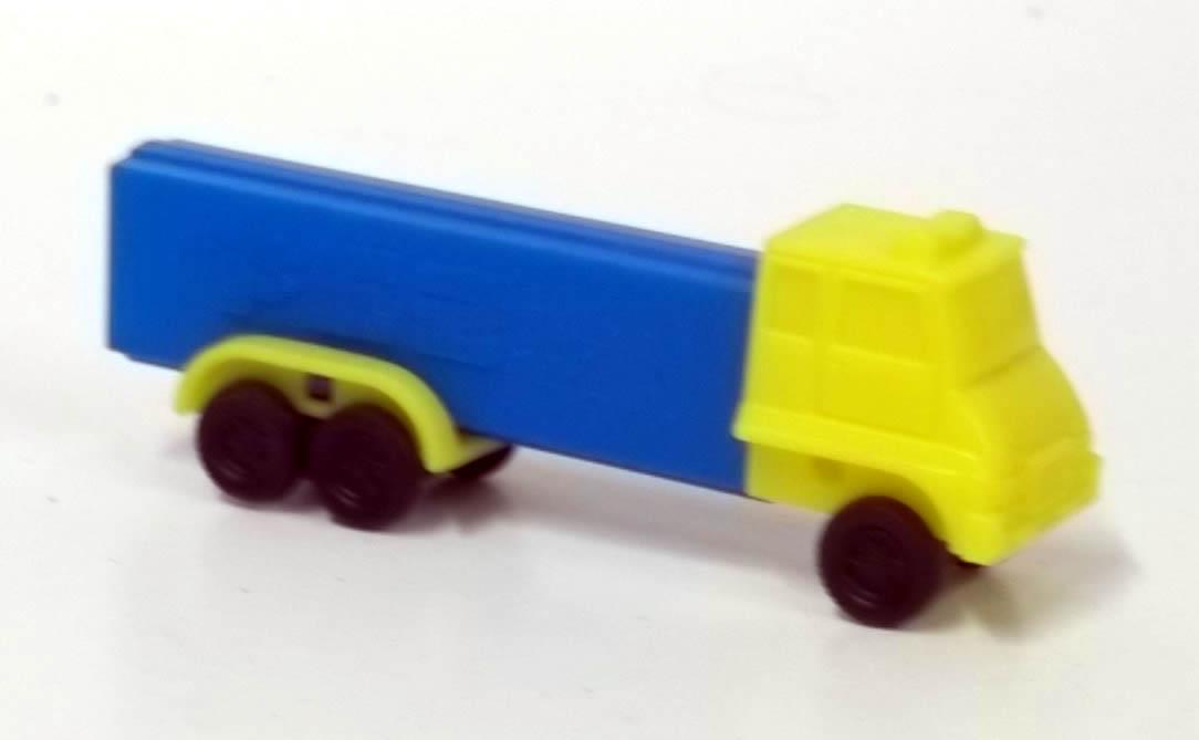 PEZ dispenser Blue & Yellow 6-wheel truck 4.9 Made in Slovenia