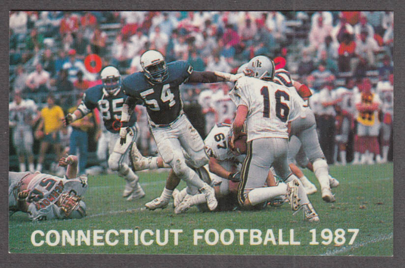 University of Connecticut pocket football schedule 1987