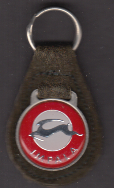 Image for Chevrolet Impala dark brown suede leather key fob 1970s unused