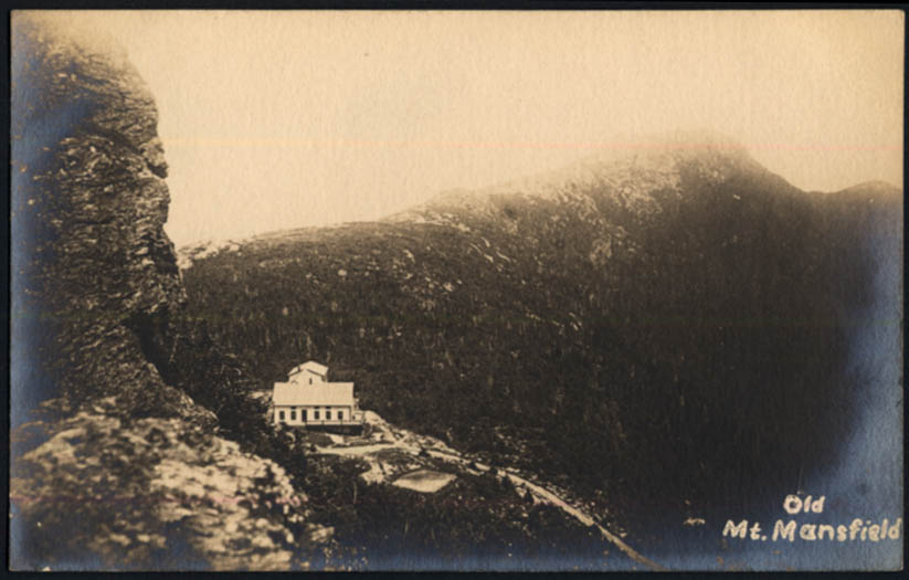 Image for Old Mount Mansfield House NH RPPC postcard ca 1905
