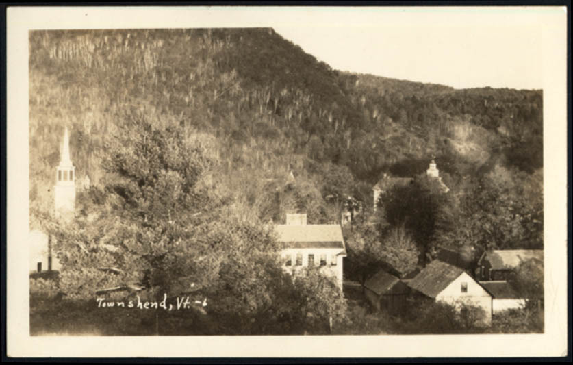 Image for Village view of Townshend VT RPPC postcard ca 1910