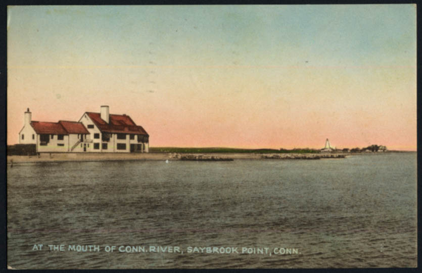 Image for At the mouth of the Connecticut River Saybrook Point CT postcard 1950