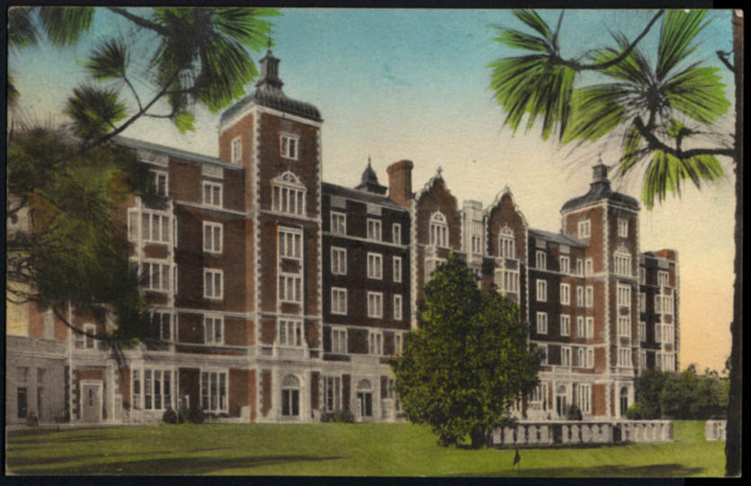 Image for The Pine Needles Hotel Southern Pines NC postcard 1942