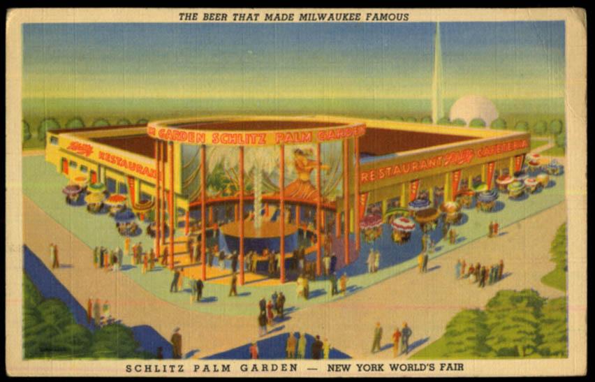Image for Schlitz Beer Palm Garden New York World's Fair postcard 1939