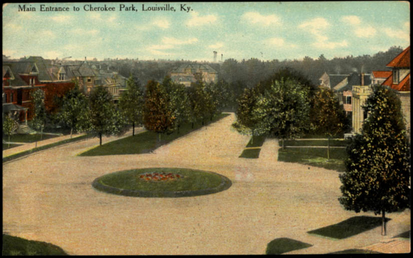 Image for Main Entrance to Cherokee Park Louisville KY postcard 1910