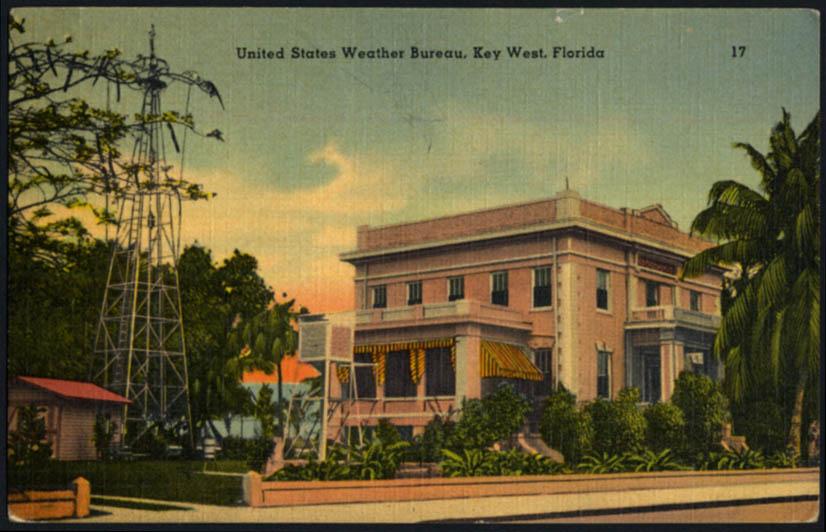 Image for United States Weather Bureau Key West FL postcard 1940