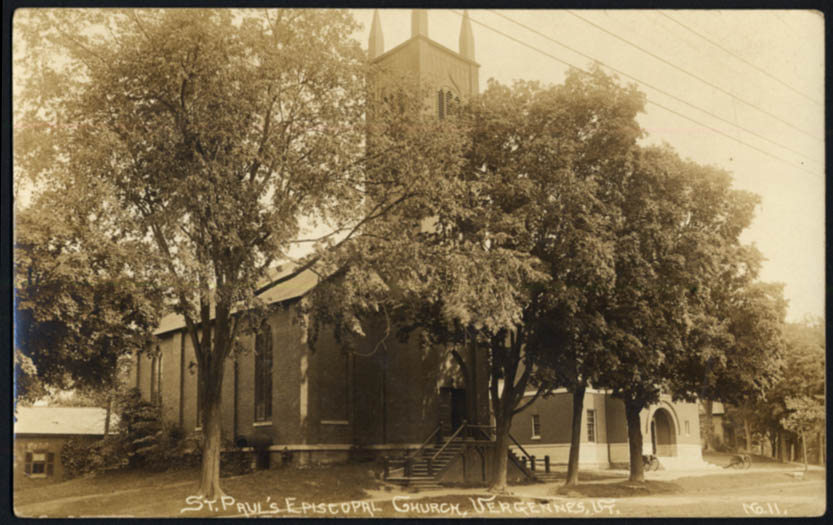 Image for St Paul's Episcopal Church Vergennes VT RPPC postcard ca 1910