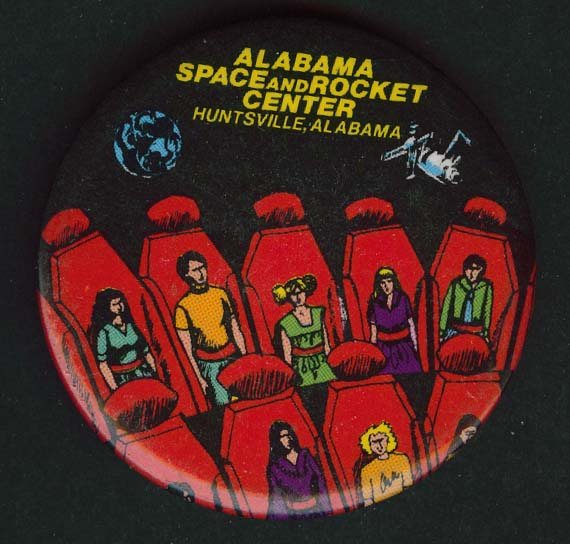 Alabama Space Rocket Center Huntsville pinback button 2