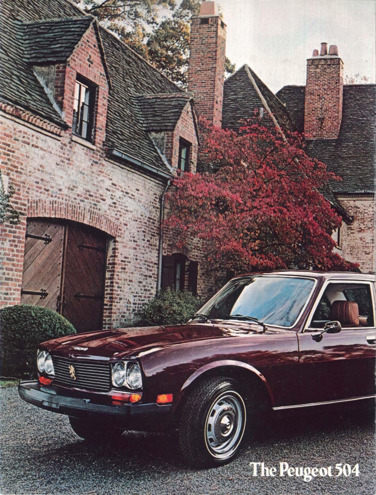 Image for 1975 Peugeot 504 sales brochure