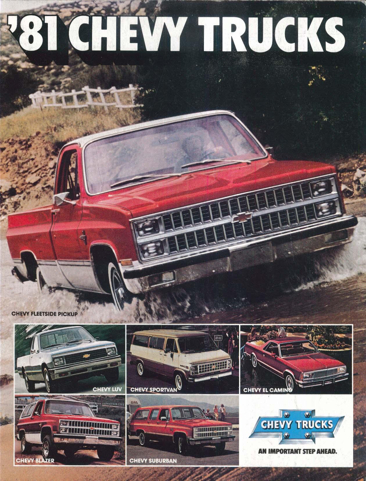 Image for 1981 Chevrolet Trucks full-line brochure: El Camino Blazer Suburban Luv +