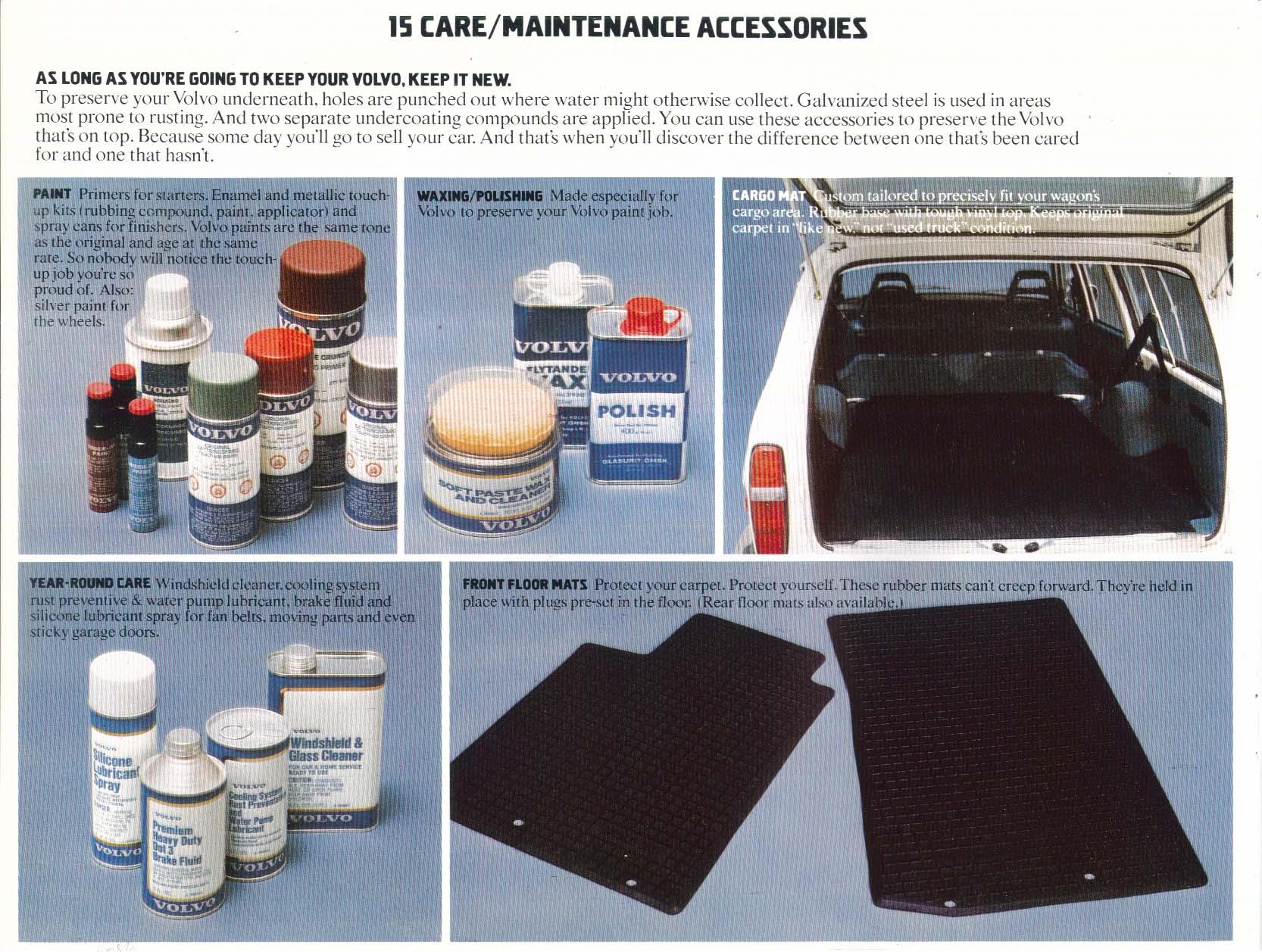 1977 Volvo Accessories sales brochure