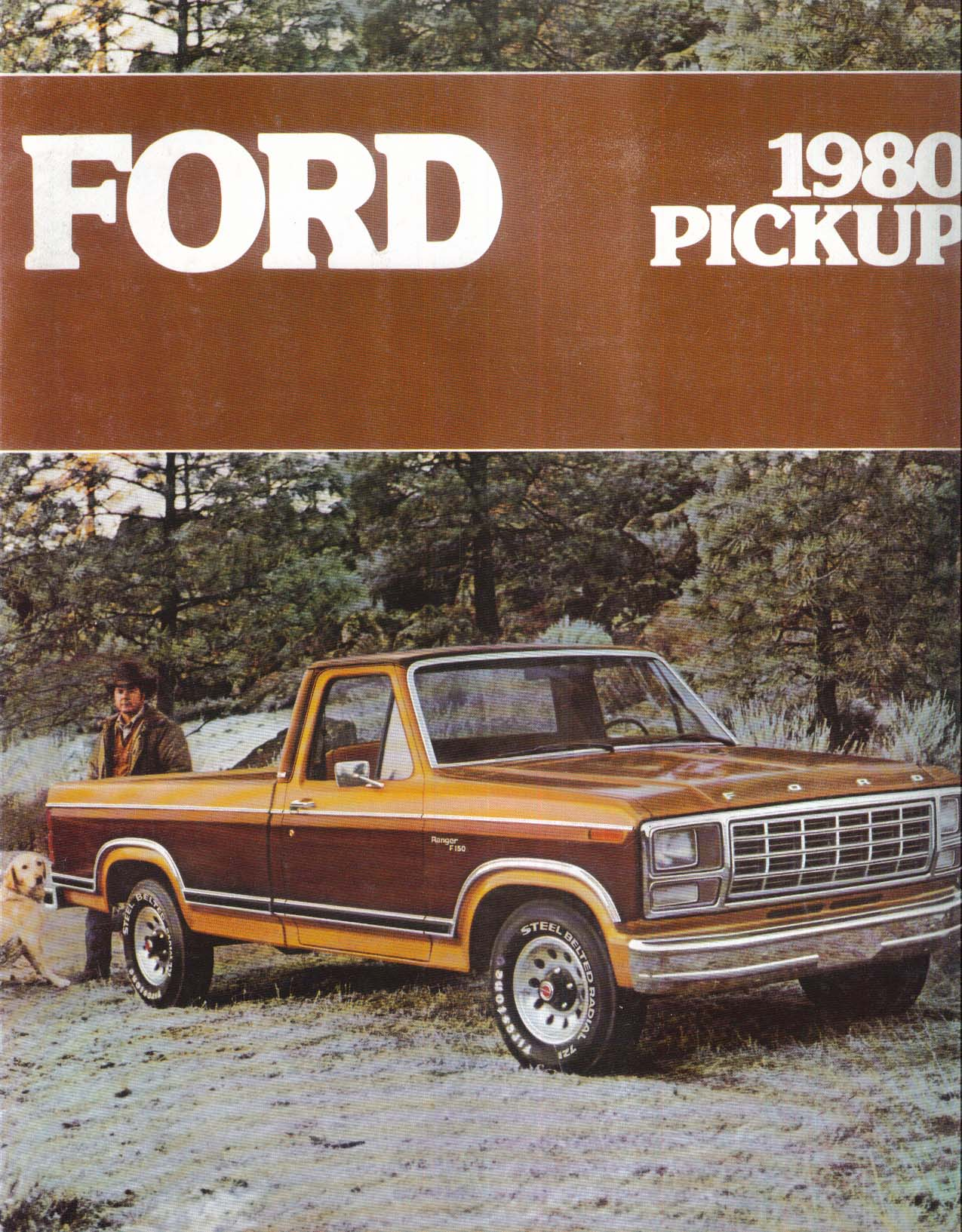 1980 Ford Pickup sales brochure: Flareside SuperCab Six-Wheeler Ranger XLT ++