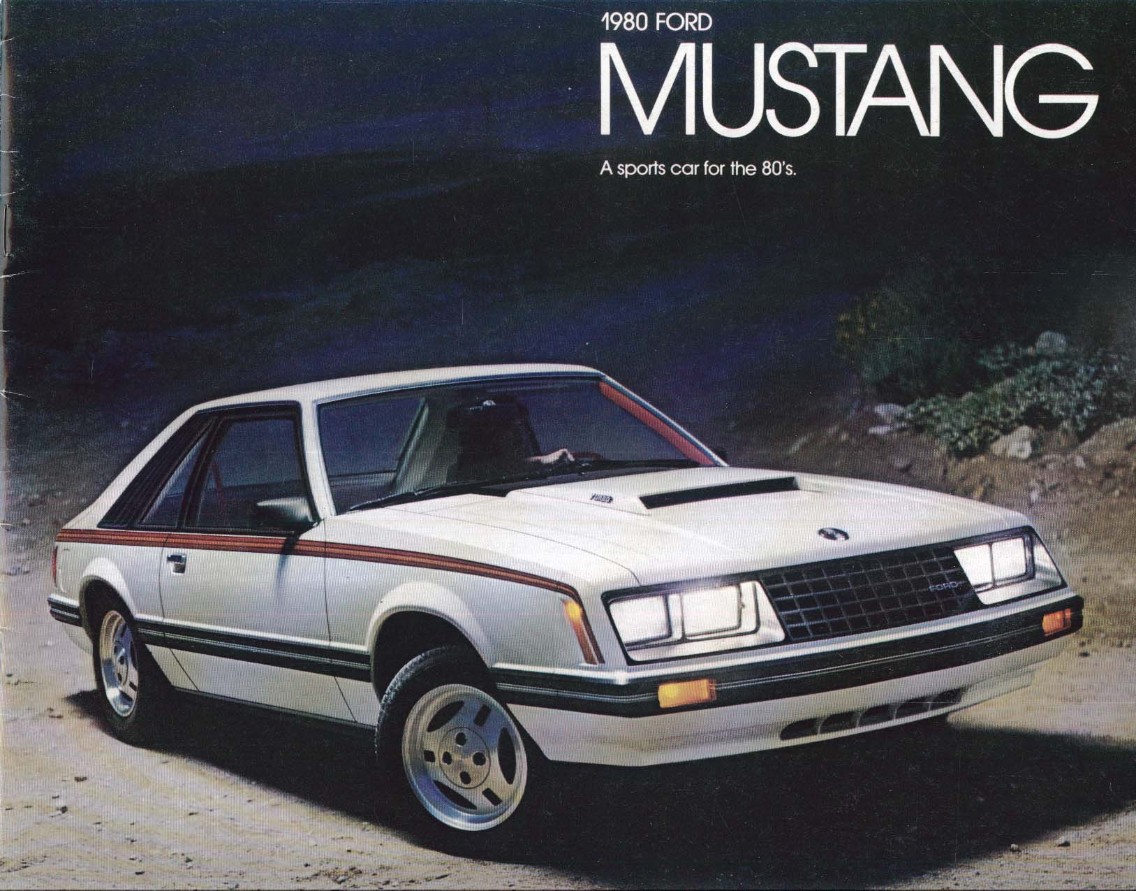 1980 Ford Mustang sales brochure: Ghia, Cobra, etc