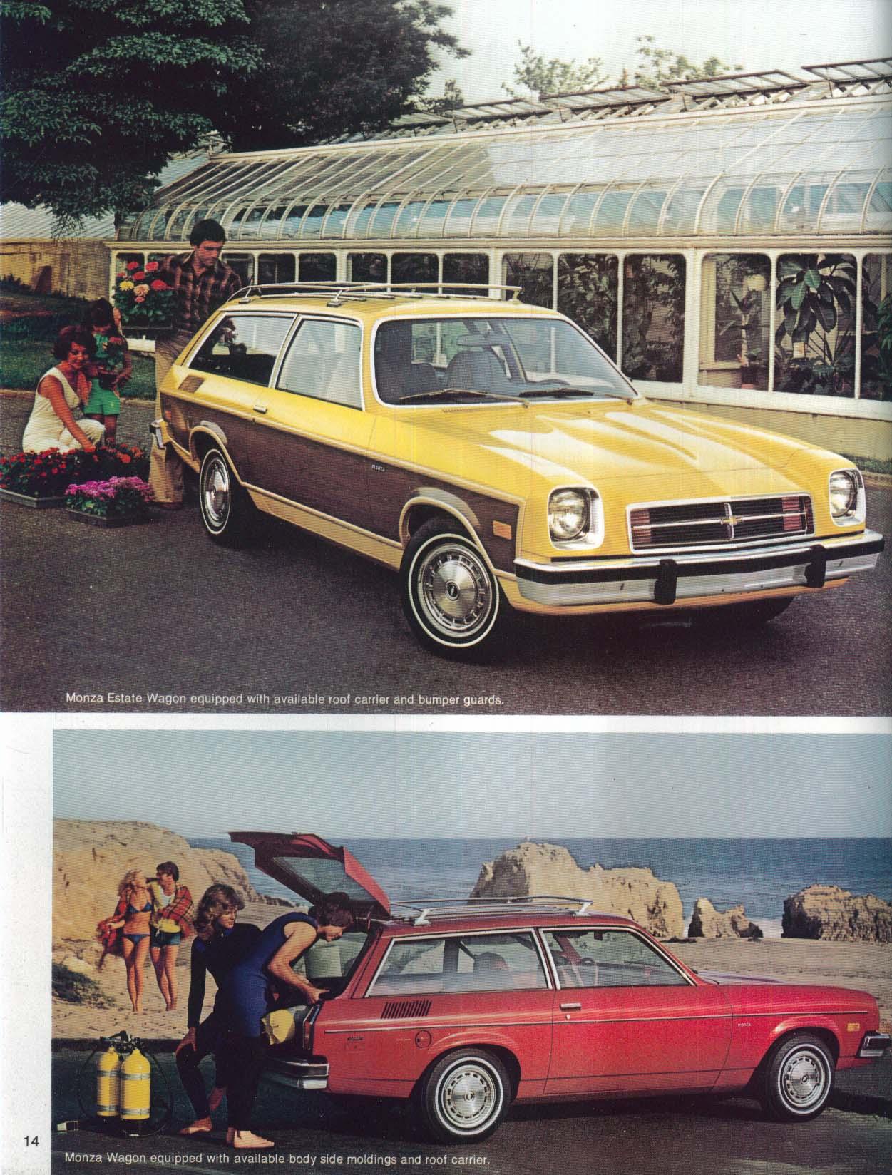 1978 Chevrolet Wagons sales brochure: Caprice Impala Malibu Monza Suburban +