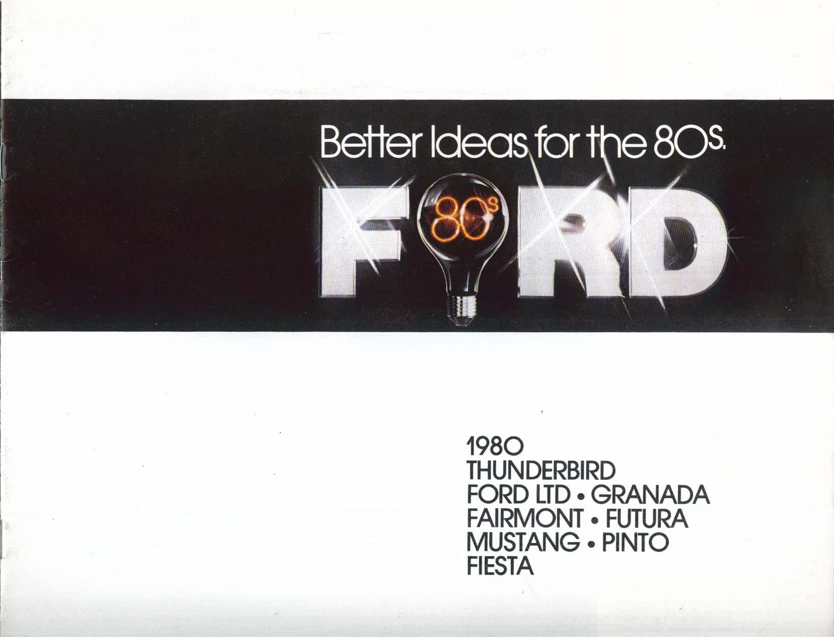 Image for 1980 Ford full-line sales brochure: Thunderbird LTD Mustang Pinto ++